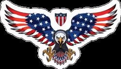 USA American Eagle With Shield Sticker