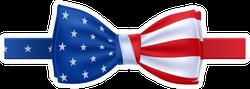 USA Bow Tie Sticker