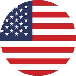 USA Flag Circle Sticker