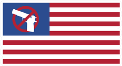 USA Flag Gun Control Sticker