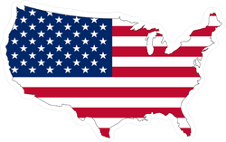 USA Flag In America Sticker