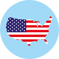 USA Flag In Map Circle Sticker