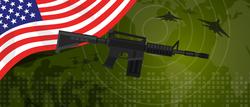 USA Flag Radar Gun Sticker