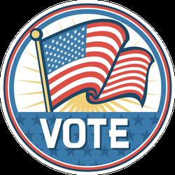 USA Flag Vote Election Circle Sticker