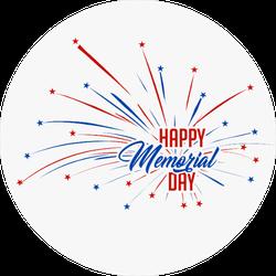 USA Memorial Day Sticker