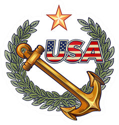 USA Navy Anchor Sticker