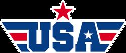 USA Wings and Stars Logo Sticker