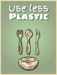 Use Less Plastic Sticker