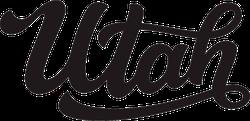 Utah Calligraphy Sticker