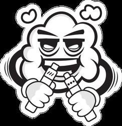 Vape Cloud Man Sticker