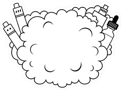 Vape Cloud Sticker