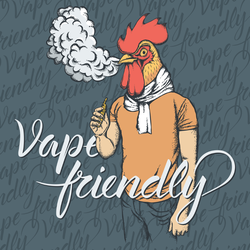 Vape Friendly Chicken Sticker
