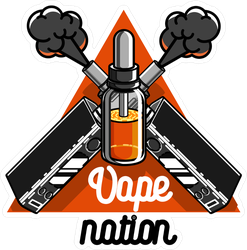 Vape Nation Triangle Sticker