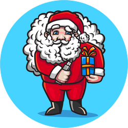 Vape Santa Sticker