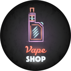 Vape Shop Neon Sign Sticker