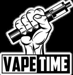 Vape Time Fist Sticker
