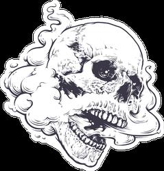 Vaping Skull Tattoo Sticker