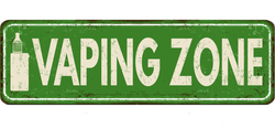 Vaping Zone Rusty Metal Sign Sticker