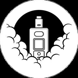 Vaporizer In Smoke Circle Sticker