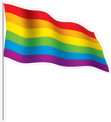 Vector A Rainbow Flag Sticker