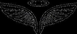 Vector Angel Wings Sticker