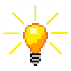 Pixel Art Idea Light Bulb Sticker