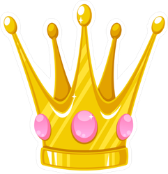 Vector Crown For A Princess Sticker
