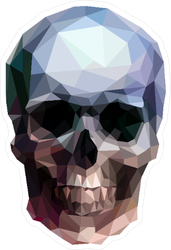 Vector Crystal Skull Sticker