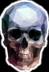 Vector Crystal Skull Sticker