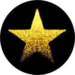 Vector Glittering Star Sticker