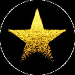 Vector Glittering Star Sticker