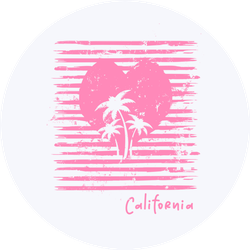 Vector Illustration Love And Surfing In California Sticker