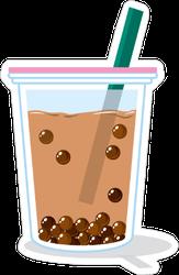 Vector Of Bubble Tea Sticker