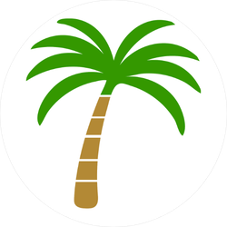 Vector Palm Tree Icon Sticker