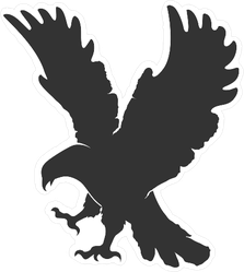 Vector Silhouette Flying Eagle Sticker