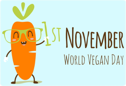 World Vegan Day With A Carrot Sticker
