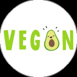 Vegan Avocado Sticker