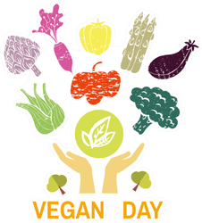 Vegan Day With Vegetables Sticker