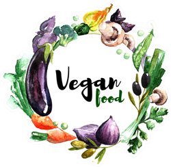 Vegan Food Watercolor Vegetables Sticker