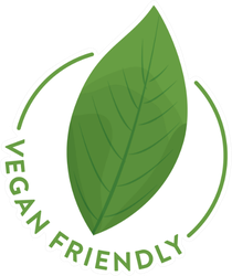 Vegan Friendly Green Leaf Sticker