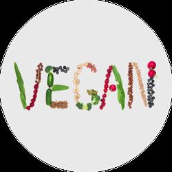 Vegan Made Of Vegan Food Sticker