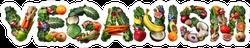 Vegetable Veganism Lettering Sticker