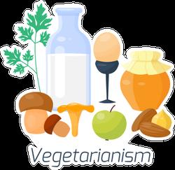Vegetarianism Food Sticker