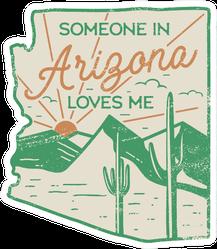 Vintage Arizona Badge Retro Style Us State Sticker