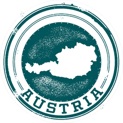 Vintage Austria European Country Stamp Sticker