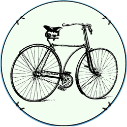 Vintage Bicycle With Decoration Frame Retro Sticker