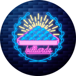 Vintage Billiard Emblem Glowing Sticker