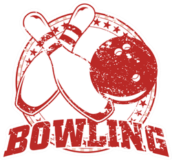 Vintage Bowling Design Sticker
