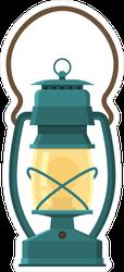 Vintage Camping Lantern Sticker