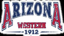 Vintage College Arizona Western Lettering Sticker